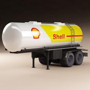 cistern trailer 3d model