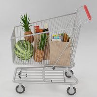 3d model shopping cart food