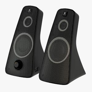 3d logitech speaker z520 model