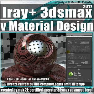 Iray + in 3dsmax 2017 vMaterial Design Vol 9.0 Cd Front