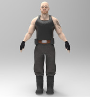 3d model mercenary character