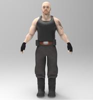 3d model mercenary character