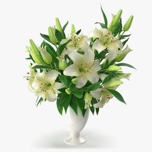 bouquet lilies obj