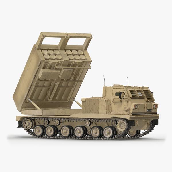 m270 mlrs desert rigged 3D model