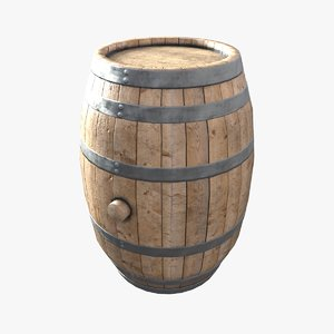 barrel wooden wood 3d obj