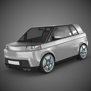 3d small electric car model