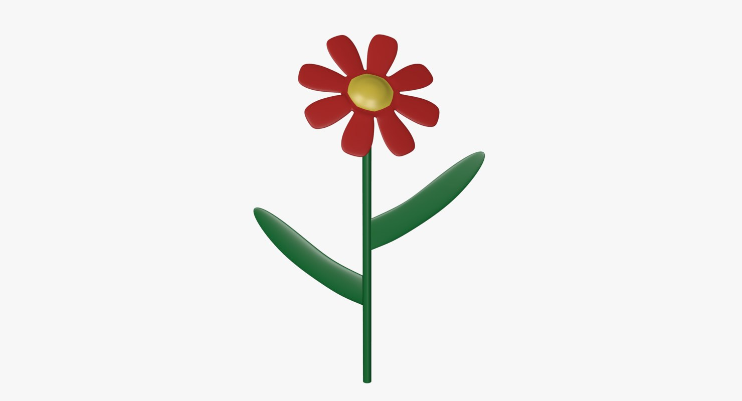 flower cartoon 3ds free