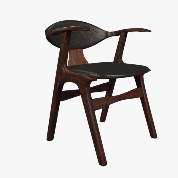 3D model retro chair rogate