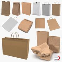 3D model paper bags 3