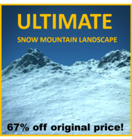 Snowy Mountain Terrain (Photorealistic)