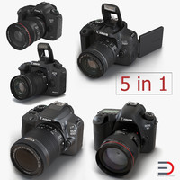 Canon Cameras 3D Models Collection 2