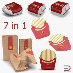 mcdonalds packaging 3D model
