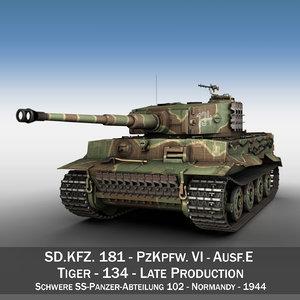 sd panzerkampfwagen vi - 3d model