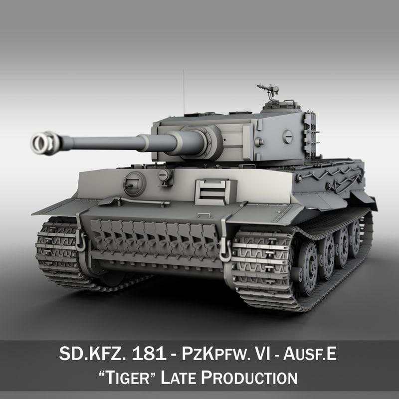 3d model of sd panzerkampfwagen vi -
