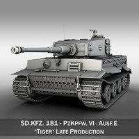 3d model of sd panzerkampfwagen vi -