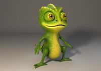 3d model middle chameleon