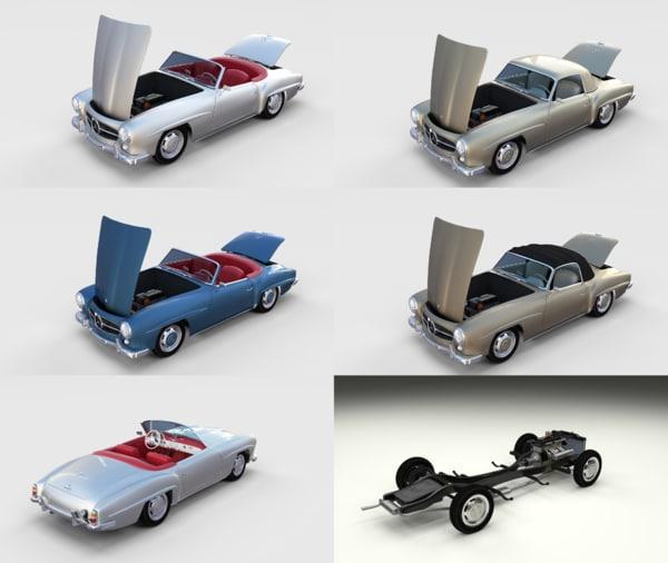 3D model pack mercedes 190sl