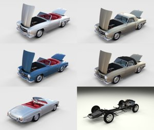 3D model pack mercedes 190sl