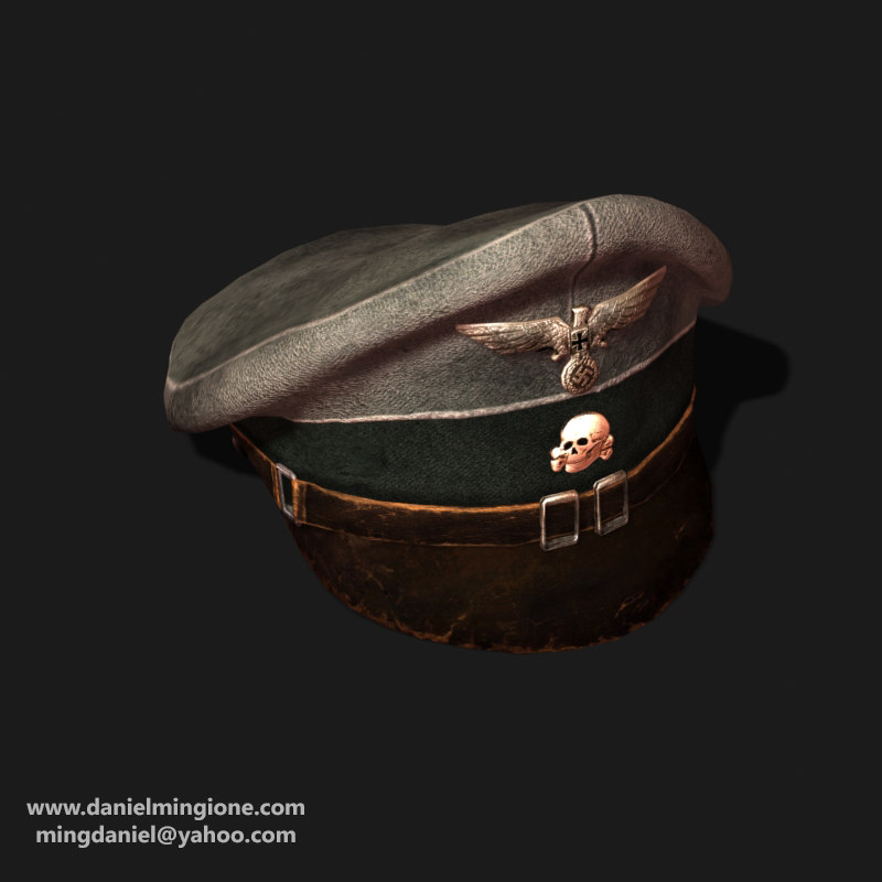 german nazi cap 3d 3ds
