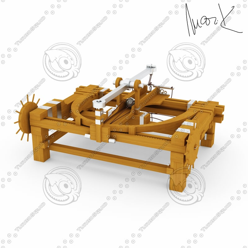 3d catapult leonardo da model