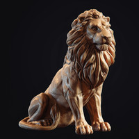 3d model lion sculpture print