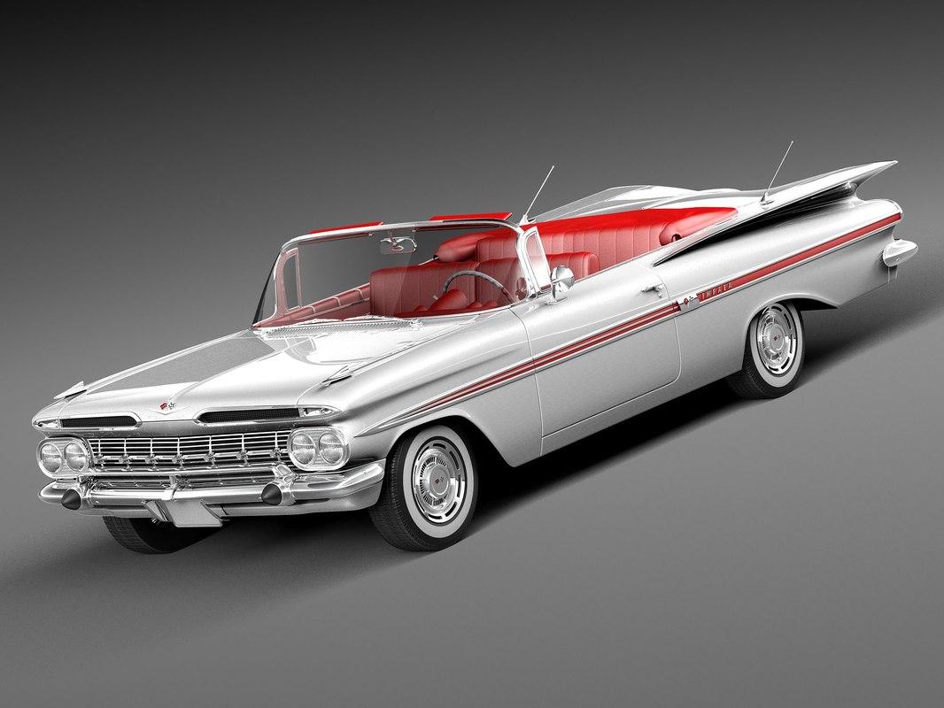 3d chevrolet impala convertible 1959 model