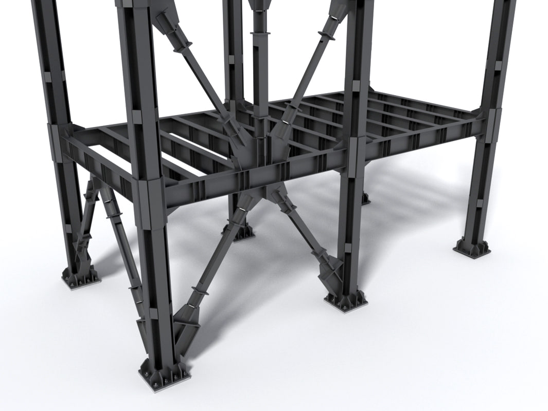 3D modular steel construction components model