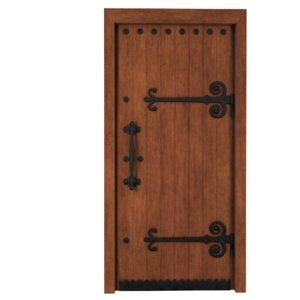 3D model medieval wooden door
