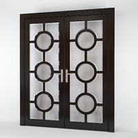 art deco double doors 3d model