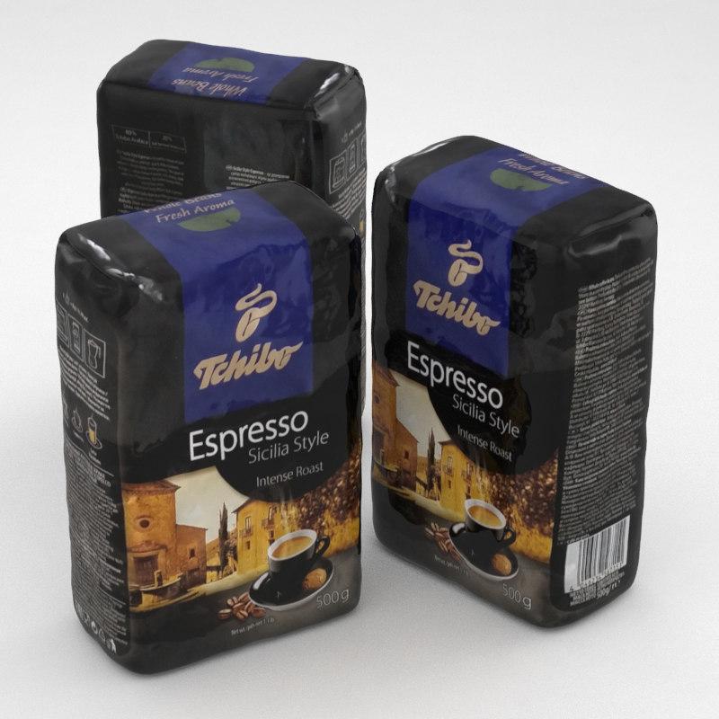 coffe package tchibo espresso 3d model