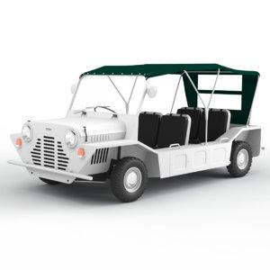 austin mini moke 3d model