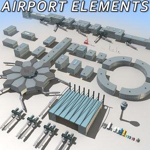 airport elements module 3d model