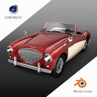3D austin-healey 100 model