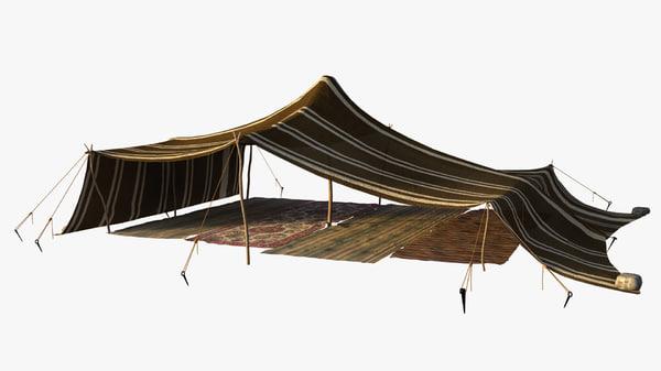 berber tent 3d model