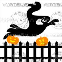 Ghost above fence preloader