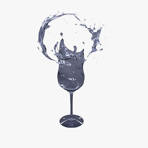splash wine 3d obj