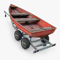 Boat trailer with boat