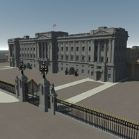 royal buckingham palace 3d max