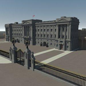 royal buckingham palace 3d max