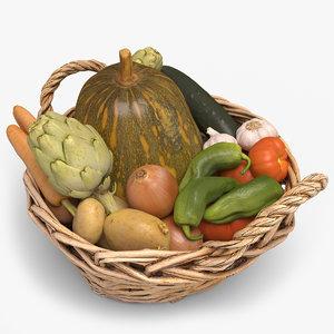 3d vegetables 01
