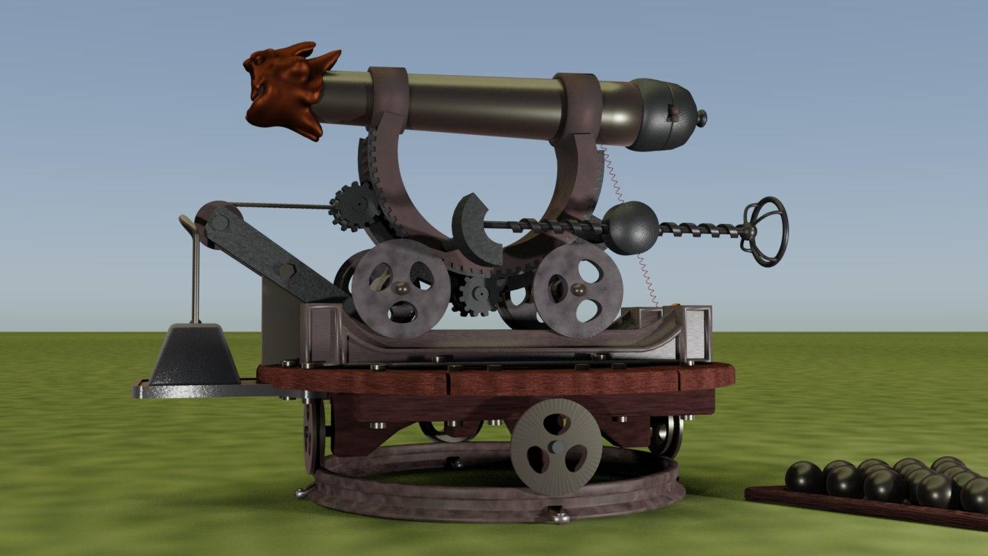 3D cannon exotic model