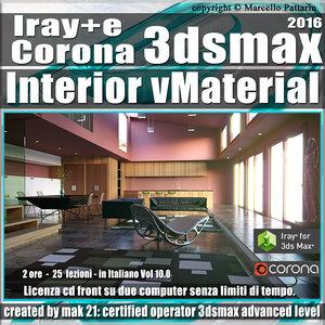 Iray + e Corona in 3dsmax 2016 Interior Vol 10 Cd Front