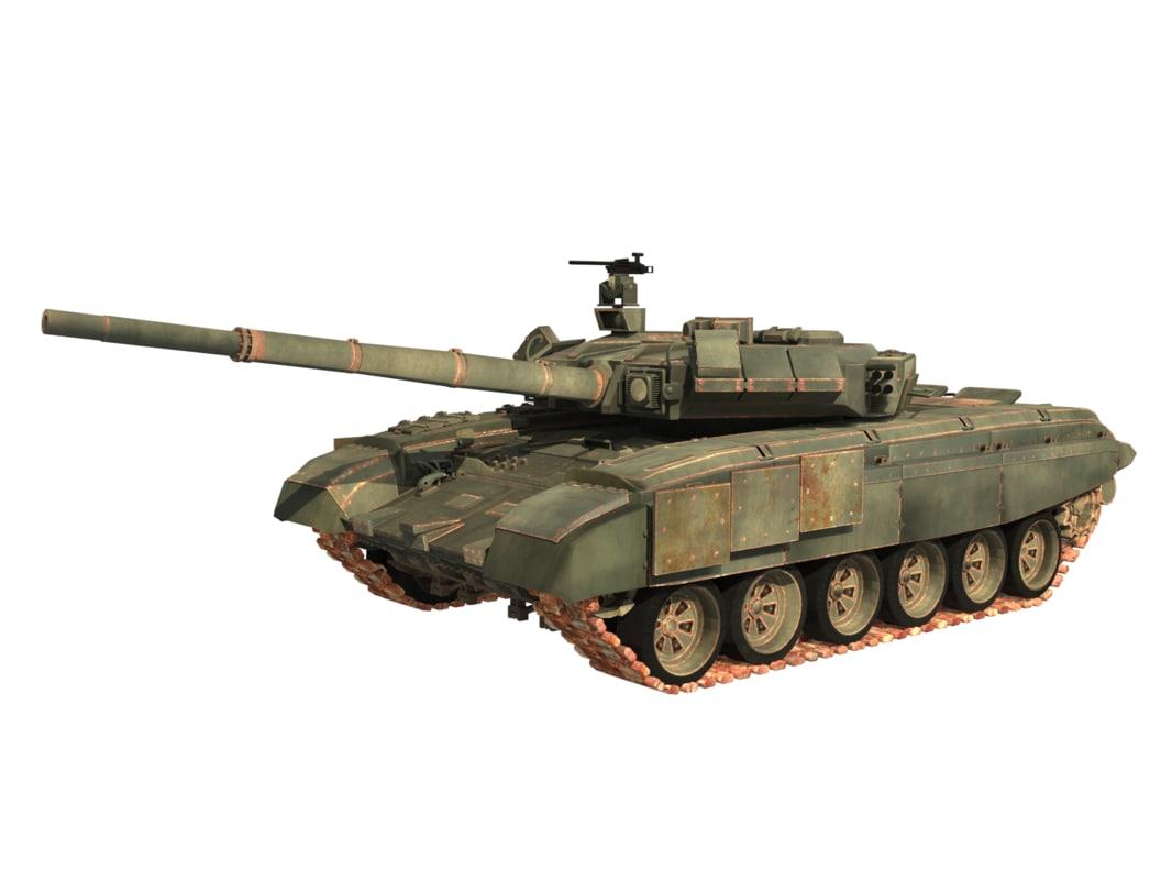 russian tanks t 90 3D model