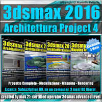 3ds max 2016 Architettura Project 4 Versione 3 mesi Subscription 1 Computer