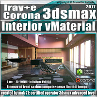 Iray + e Corona in 3dsmax 2017 Interior Vol 10 Cd Front