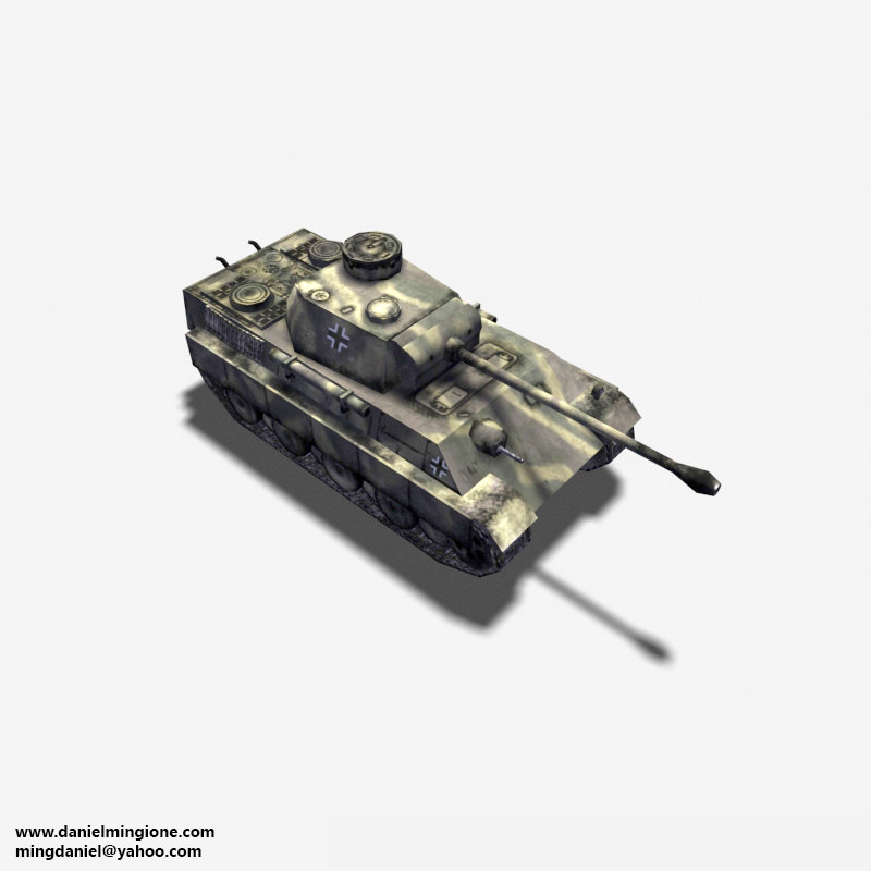 3ds max german tank