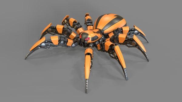 3d c4d robot spider