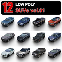 Low Poly SUVs vol.1