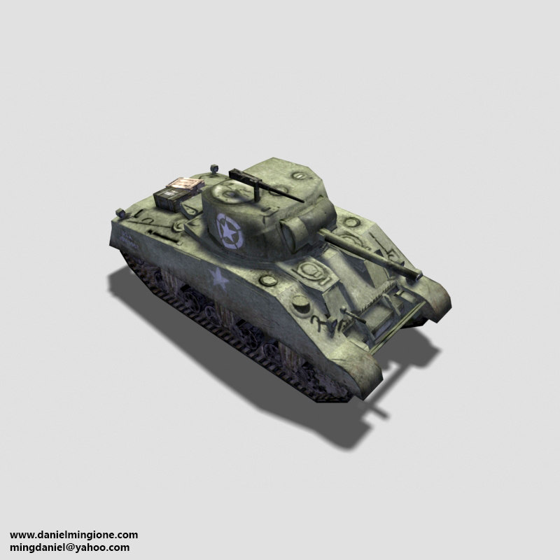 3ds max usa sherman tank