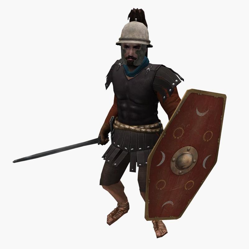 3D roman cavalry